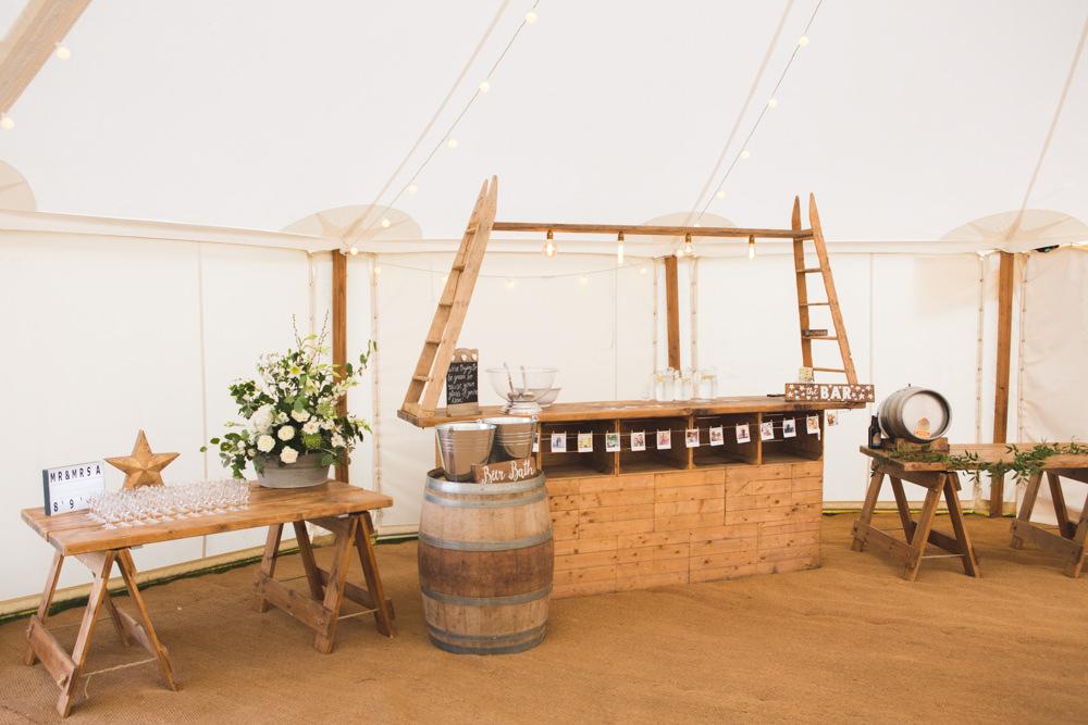 Wooden Ladder Bar Airbnb Wedding Pickavance Weddings