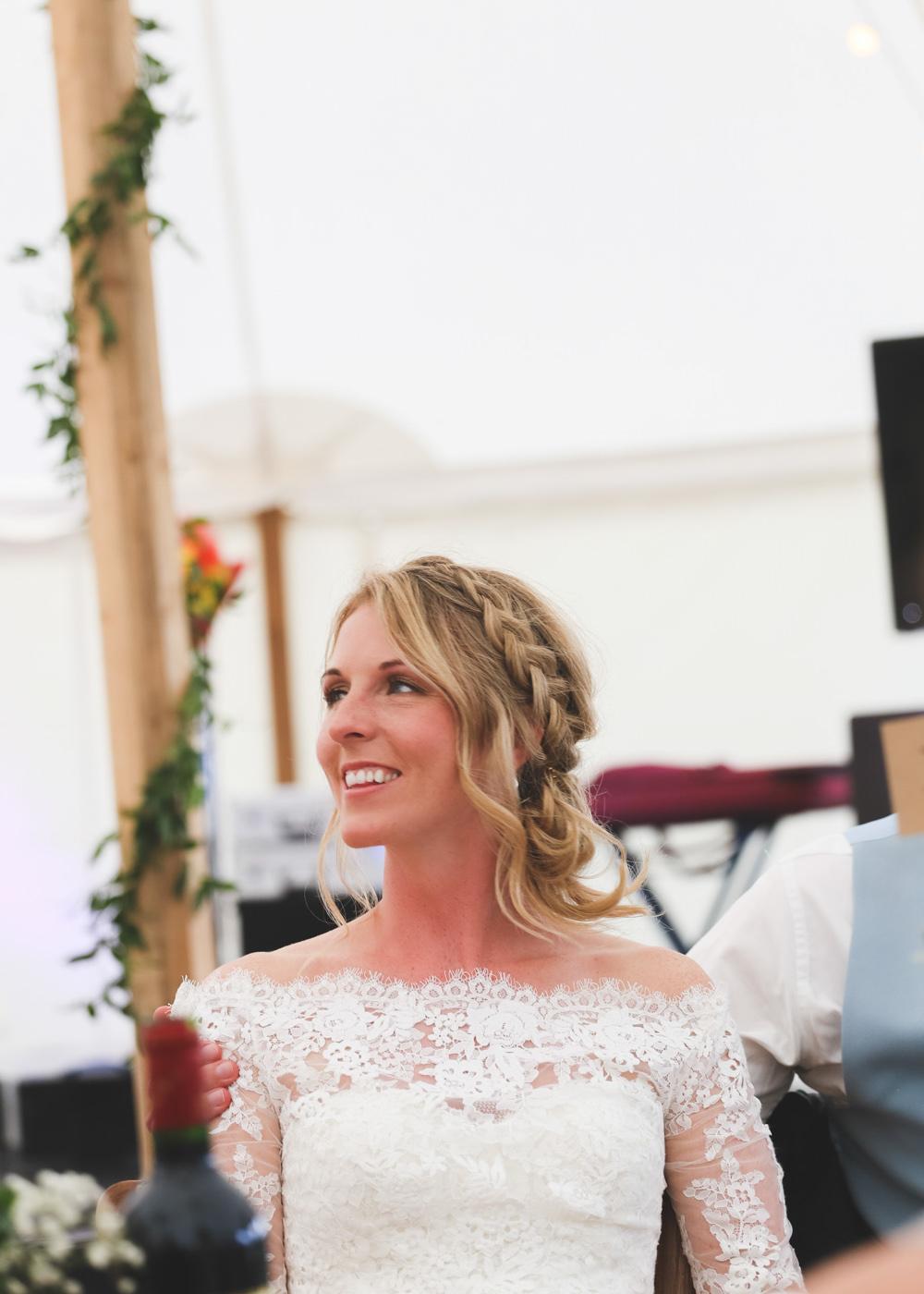 Bride Bridal Hair Style Up Do Plait Braid Make Up Airbnb Wedding Pickavance Weddings