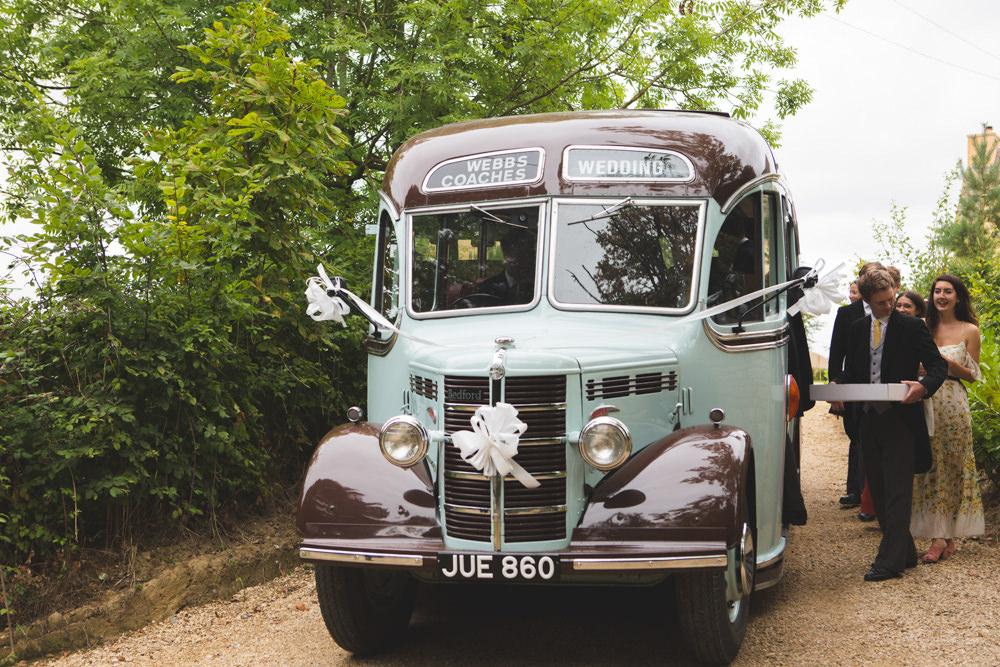Vintage Bus Transport Airbnb Wedding Pickavance Weddings