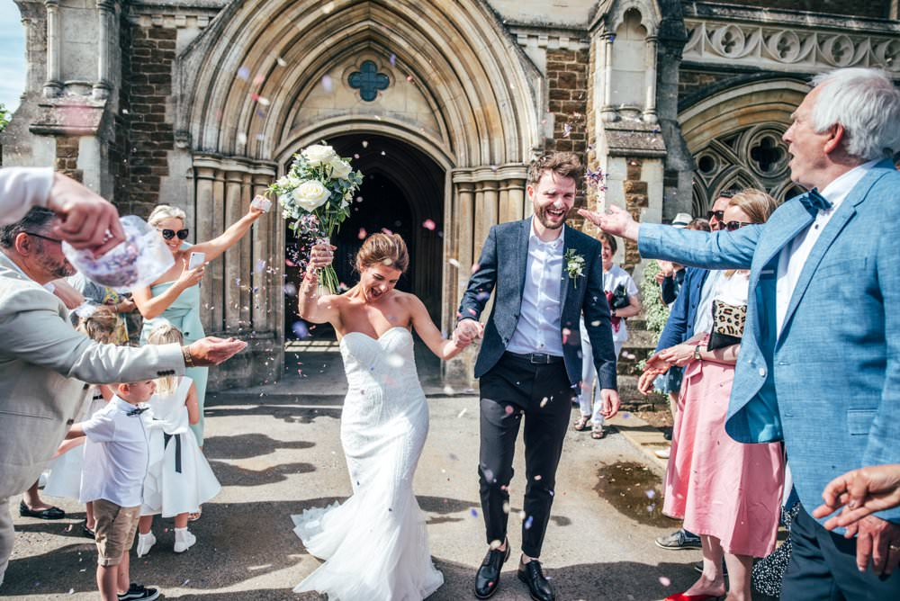 Confetti South African Cloister Charterhouse School Wedding Three Flowers Photography