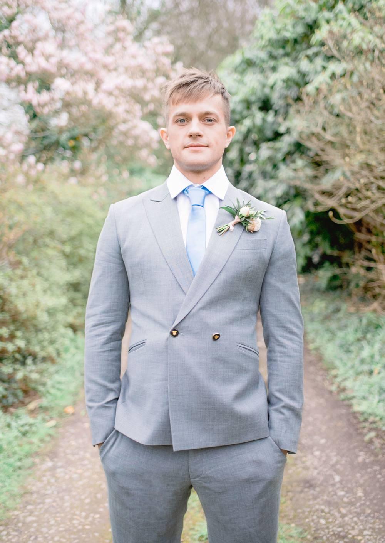 Groom Suit Grey Double Breasted Blue Tie Elegant Wedding Ideas Yll Weddings