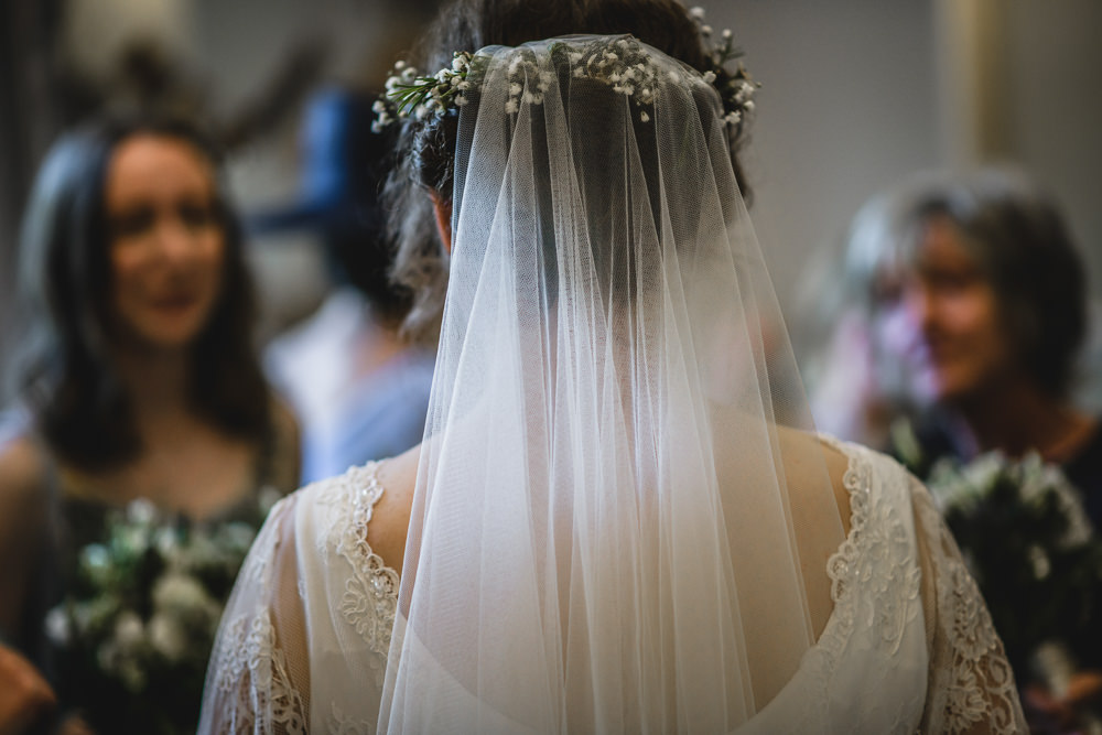 Wax Flower Floral Crown Veil Hargate Hall Wedding Pixies in the Cellar