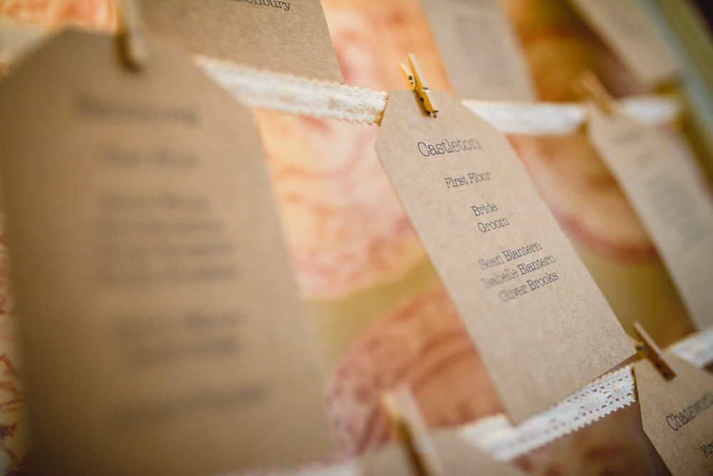 Table Plan Seating Chart Peg Ribbon Luggage Tag Hargate Hall Wedding Pixies in the Cellar