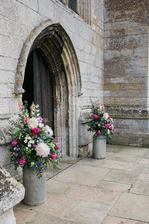 Milk Churn Multicoloured Wildflower Flowers Florals Lincolnshire Tipi Wedding Jessy Jones Photography