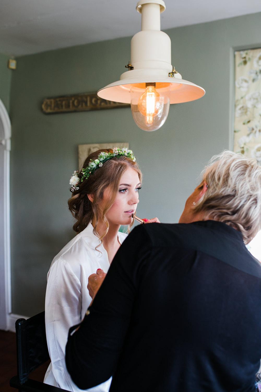 Bride Bridal Flower Crown Up Do Lincolnshire Tipi Wedding Jessy Jones Photography
