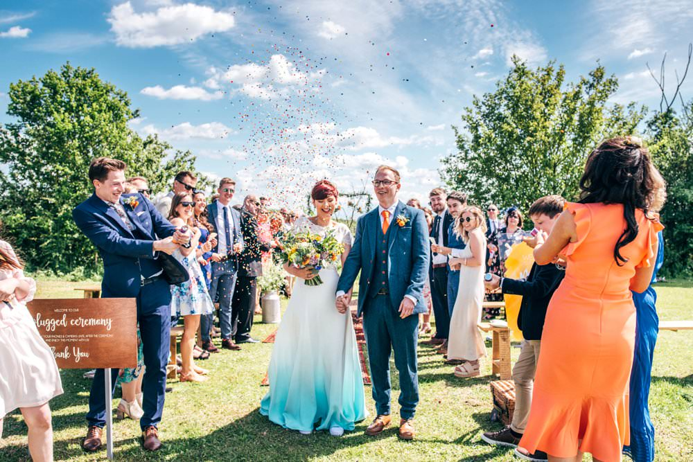 Confetti Outdoor DIY Wedding Three Flowers Photography