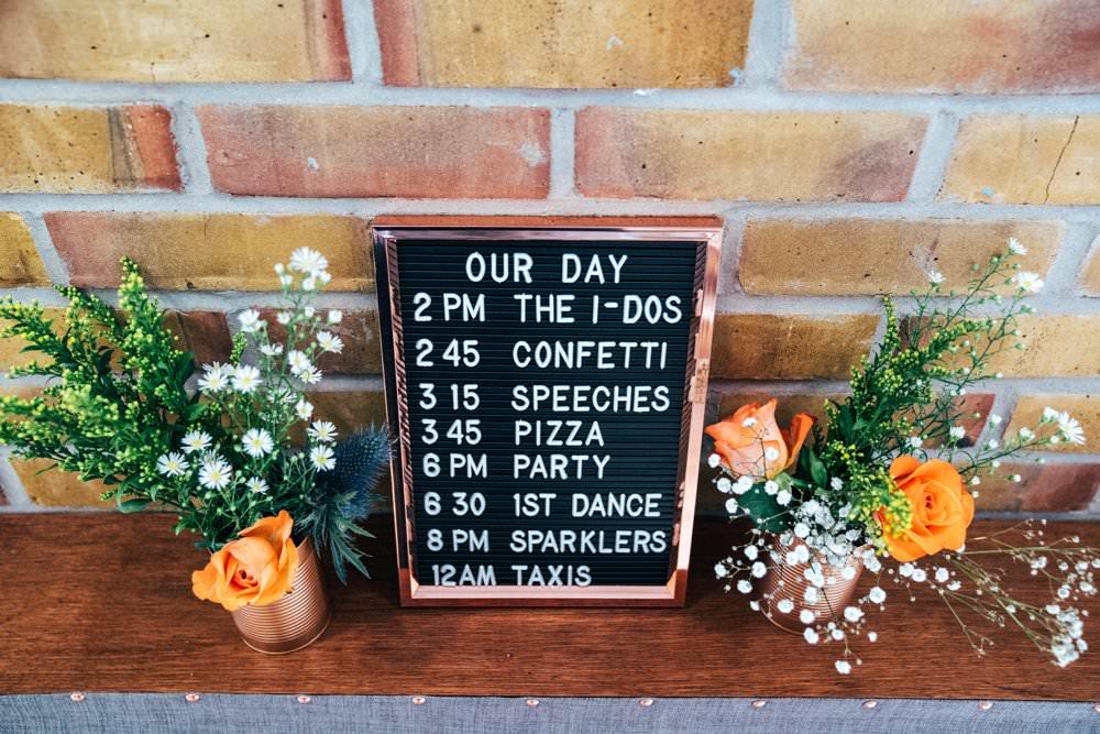 Peg Board Felt Sign Signage Signs Outdoor DIY Wedding Three Flowers Photography