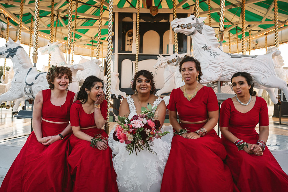 Bride Bridal V Neck A Line Dress Lace Overlay Red Pakistani Bridesmaids Preston Court Wedding The Last Of The Light
