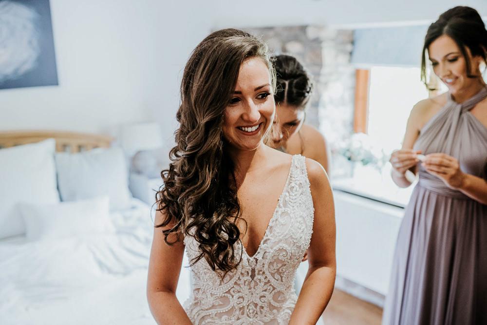Bride Bridal Hair Long Waves Curls Village Tipi Wedding Ryan Goold Photography