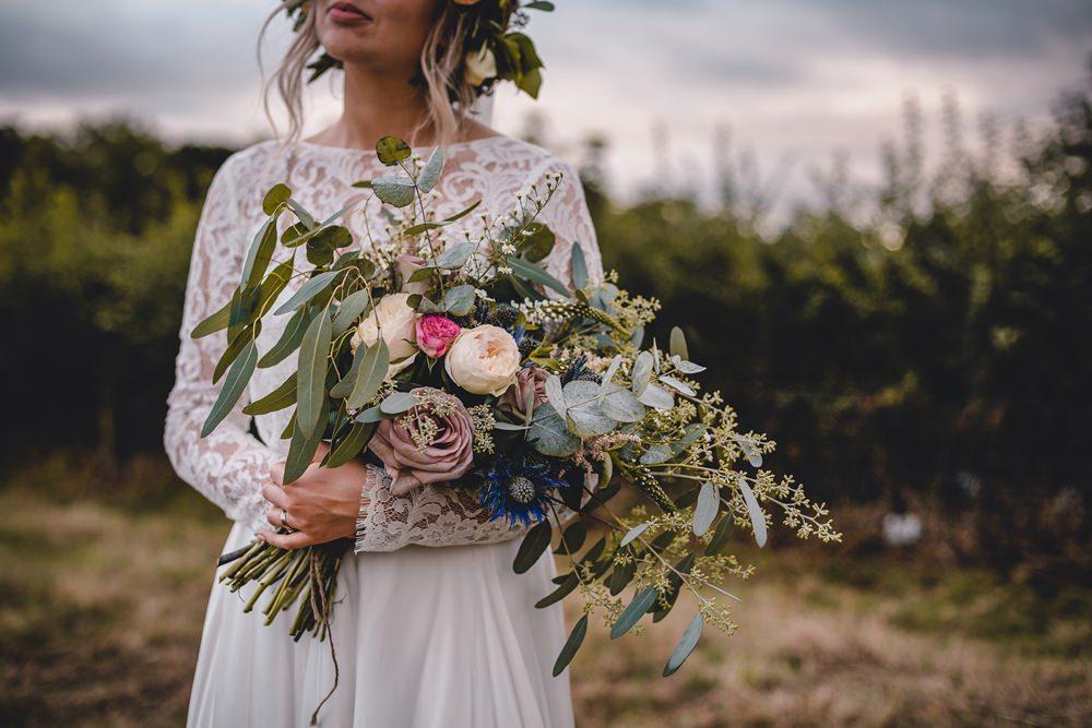 Bride Bridal Wild Loose Bouquet Rose Peony Eucalyptus DIY Bohemian Wedding Love & Bloom Photography