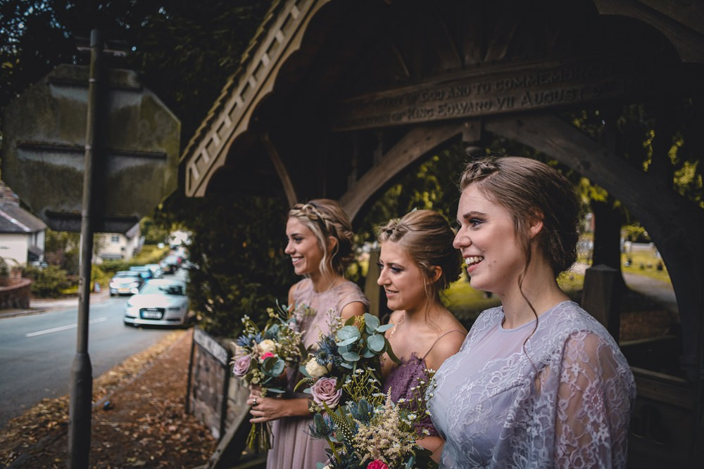 Mauve Mismatched Dresses Bridesmaids Wildflower Bouquets DIY Bohemian Wedding Love & Bloom Photography
