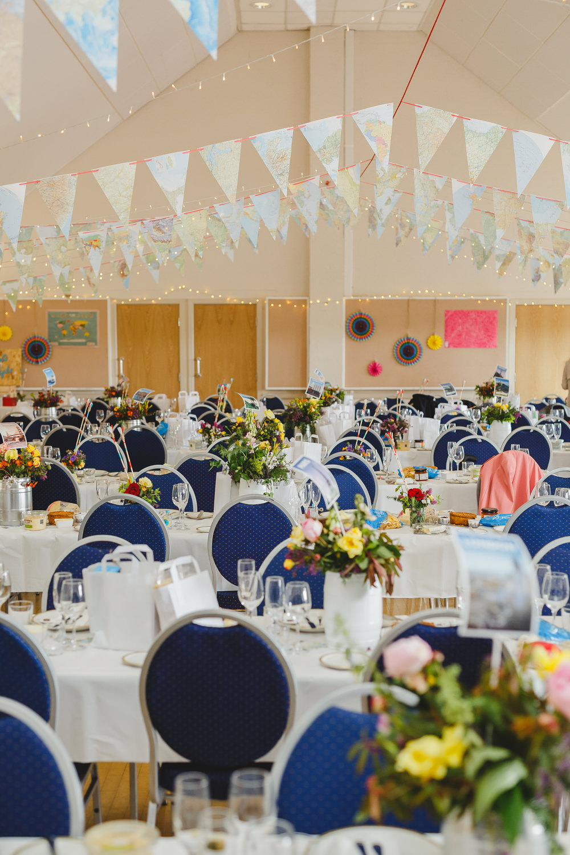 Bunting Multcioloured East Keswick Village Hall Wedding James & Lianne Wedding Photography