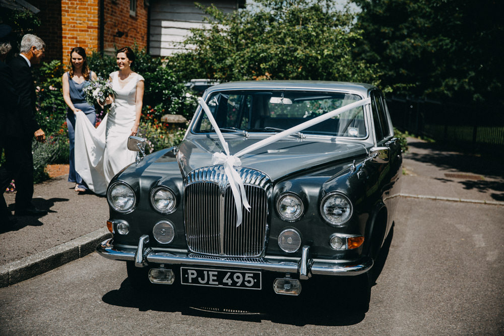 Classic Car Transport Horsebridge Station Wedding Emily Grace Photography