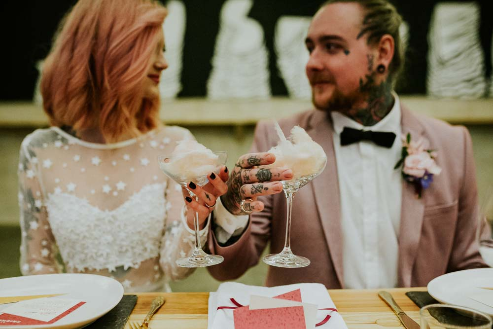 Cocktails Drinks Candyfloss Neon Sign Wedding Ideas State Of Love and Trust Photography