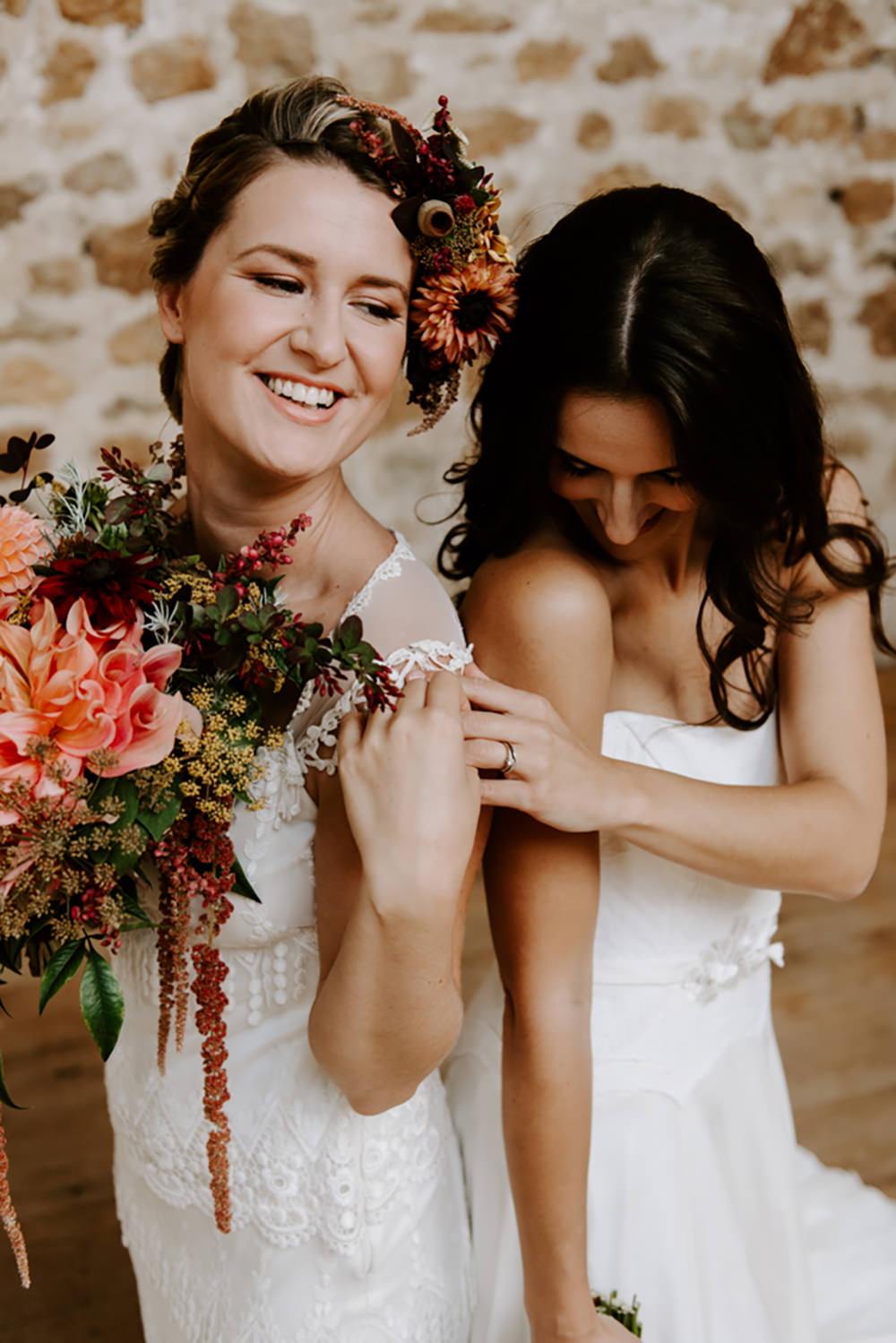 Bride Bridal Make Up Headdress Flower Crown Flowers Hairband Ethical Wedding Ideas Sadie Osborne Photography