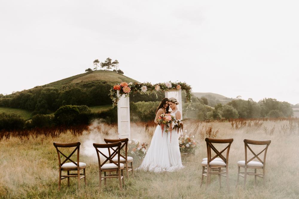 Flower Arch Backdrop Dooes Glass Antique Ceremony Aisle Ethical Wedding Ideas Sadie Osborne Photography