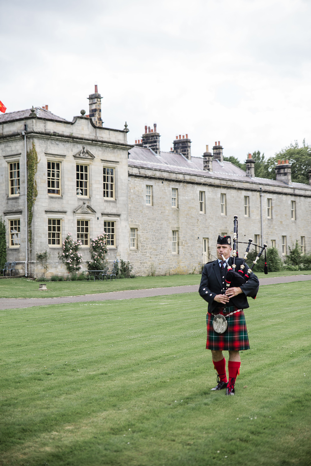 Piper Bagpipes Marquee Castle Wedding Rachael Fraser Photography