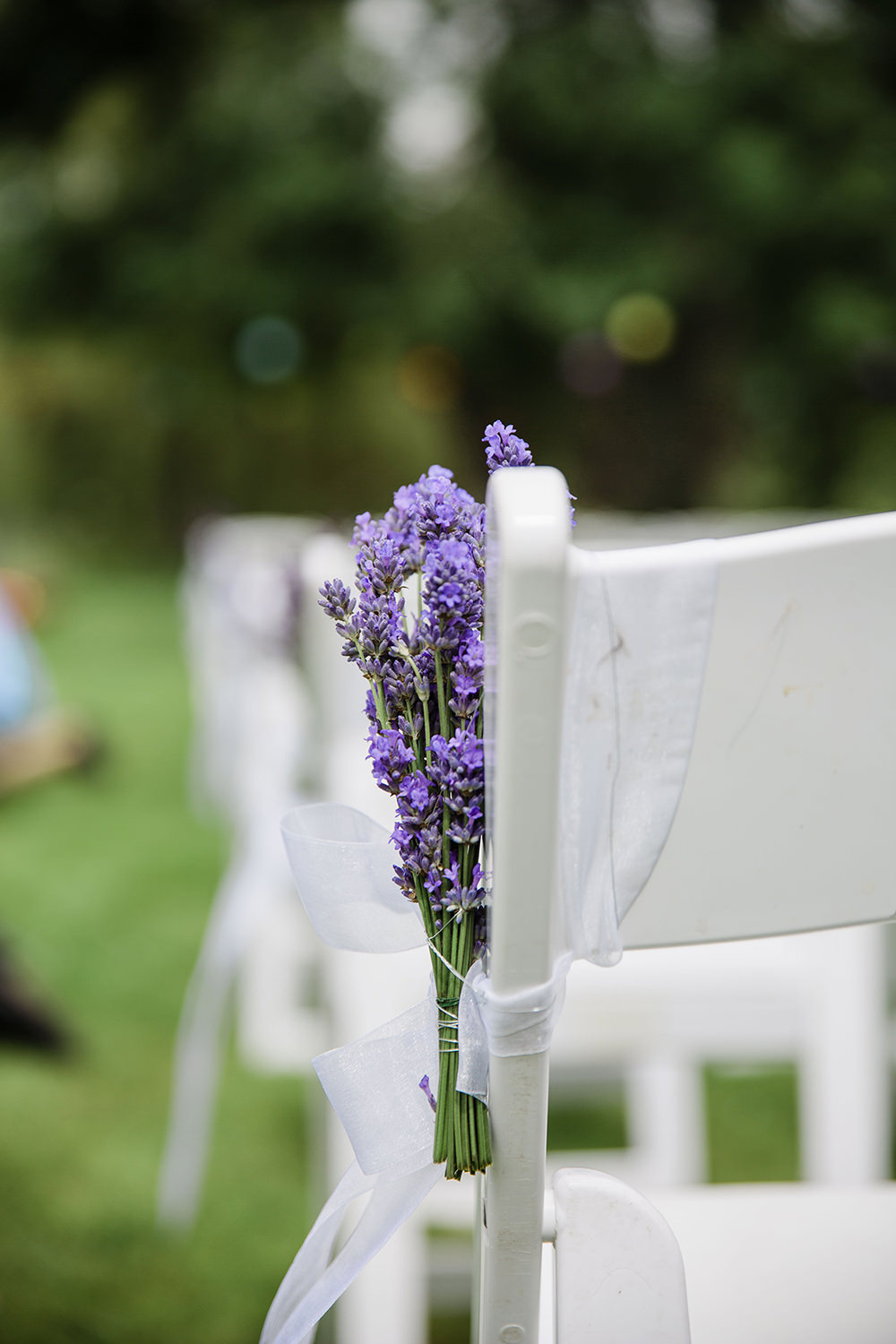 Pew Ends Aisle Decor Flowers Floral Outdoor Ceremony Marquee Castle Wedding Rachael Fraser Photography