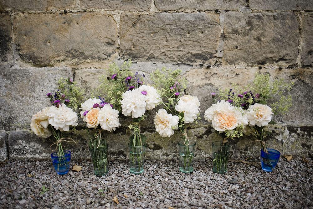 Bride Bridal Bouquet Bridesmaids Marquee Castle Wedding Rachael Fraser Photography