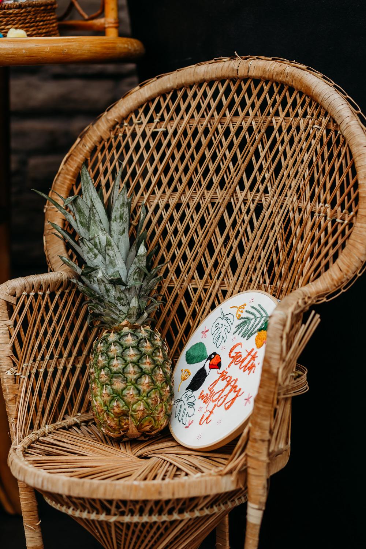 Embroidery Hoop Sign Tropical Wedding Ideas When Charlie Met Hannah