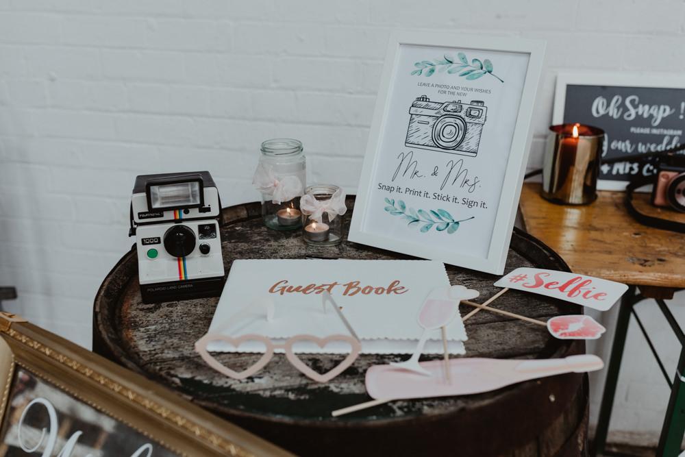 Guest Book Photo Instax Polaroid 92 Burton Road Wedding Stevie Jay Photography