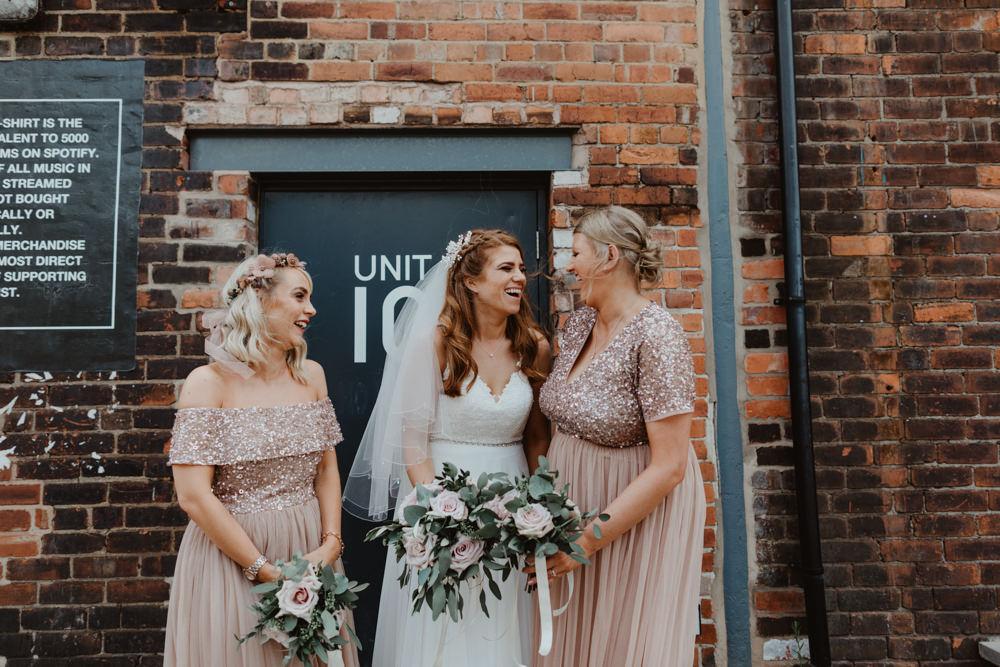 Bridesmaids Bridesmaid Dress Dresses Pink Sequin 92 Burton Road Wedding Stevie Jay Photography