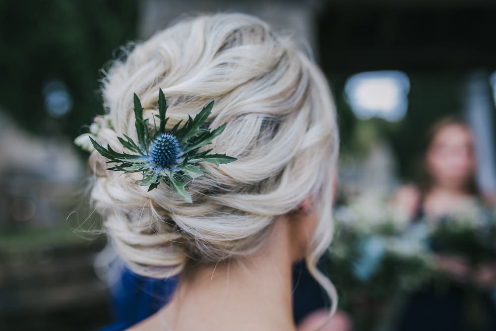 Bridesmaid Hair Style Up Do Thistle Cosy Autumn Wedding Amy Jordison Photography