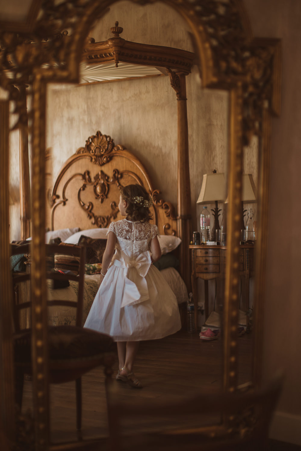 Flower Girl Dress Bow Escape To The Chateau Wedding The Springles