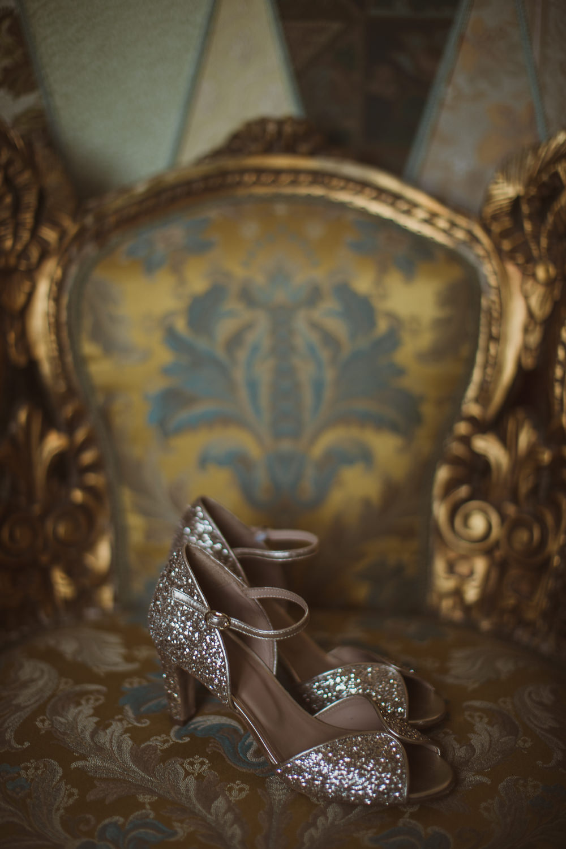 Glitter Peep Toe Shoes Bride Bridal Escape To The Chateau Wedding The Springles