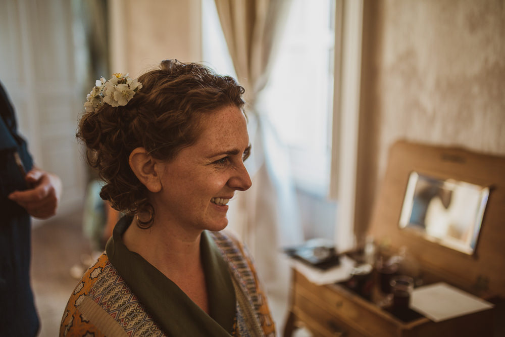 Bride Bridal Hair Style Up Do Flowers Escape To The Chateau Wedding The Springles