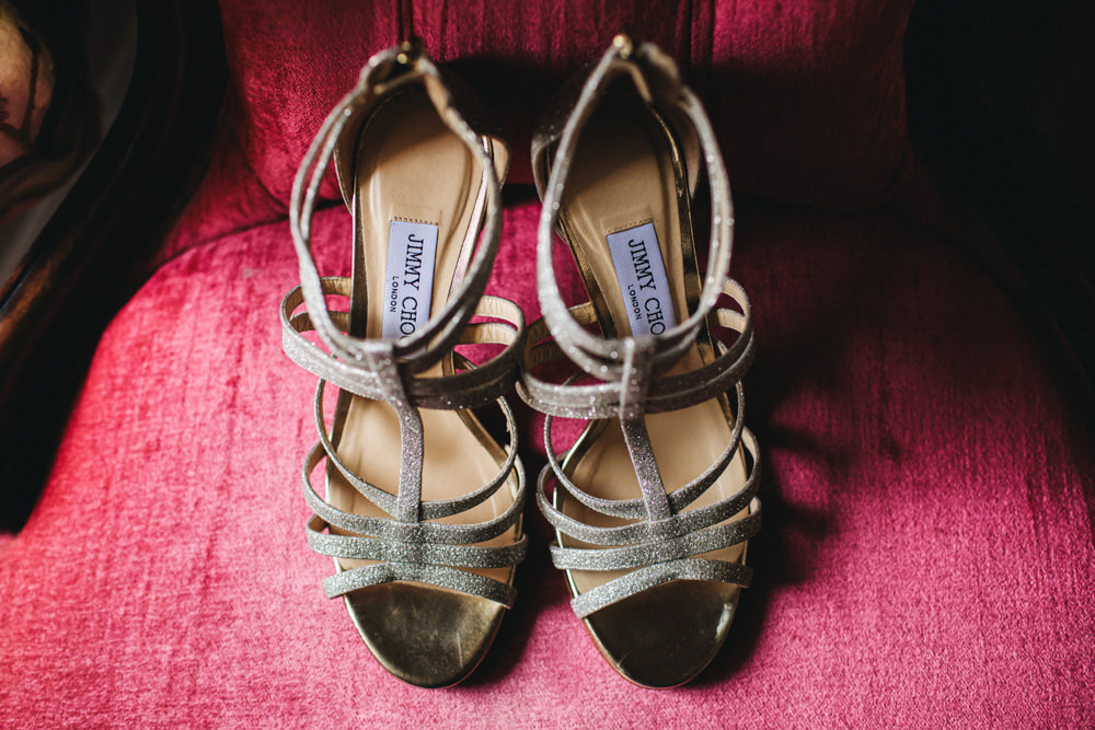 Jimmy Choo Shoes Bride Bridal Outbuildings Wedding Jessica O'Shaughnessy Photography