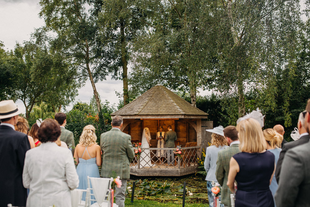 Outdoor Ceremony Gazebo South Farm Wedding Miracle Moments