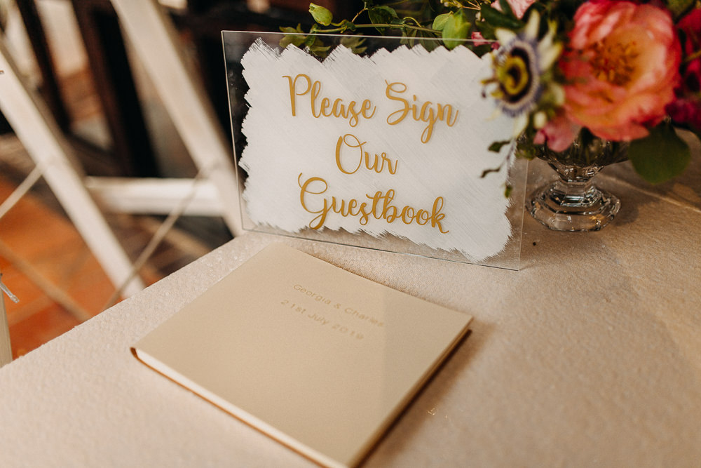 Guest Book Sign Glass Perspex Acrylic South Farm Wedding Miracle Moments