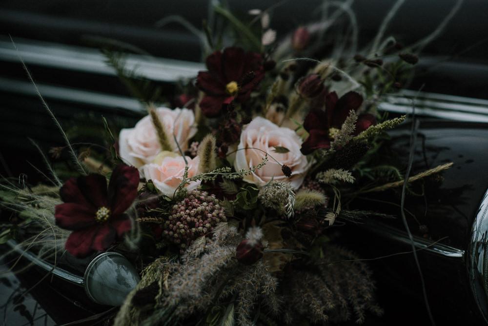 Flowers Bouquet Bride Bridal Rose Grasses Unconventional Wedding Ideas Pierra G Photography