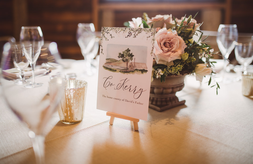 Mini Easel Table Name Watercolour Wedding Kerry Ann Duffy Photography