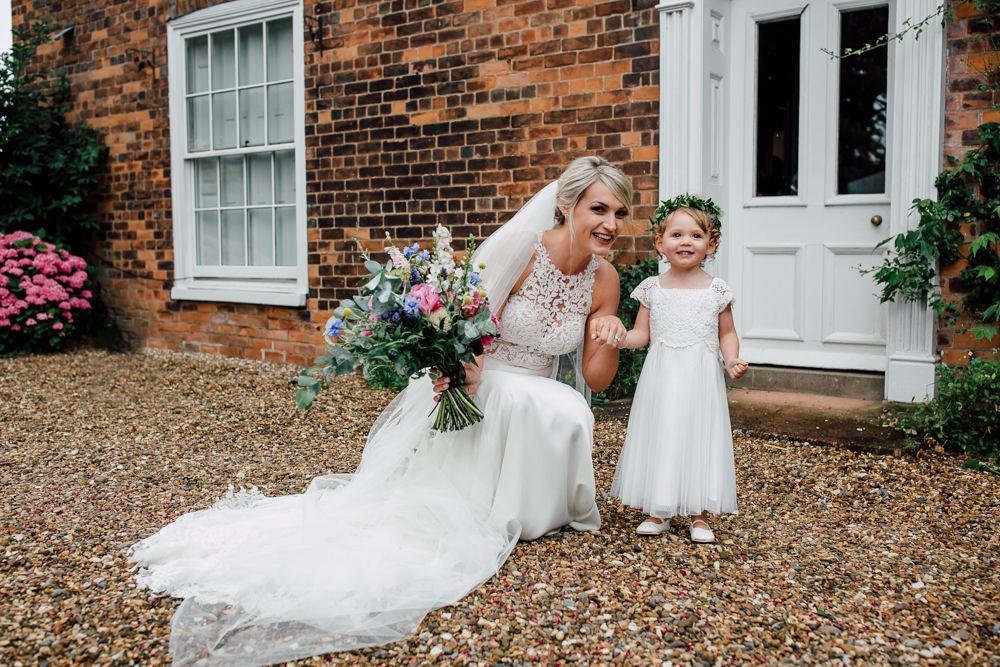 Flower Girl Barff Country House Wedding Sarah Beth Photo