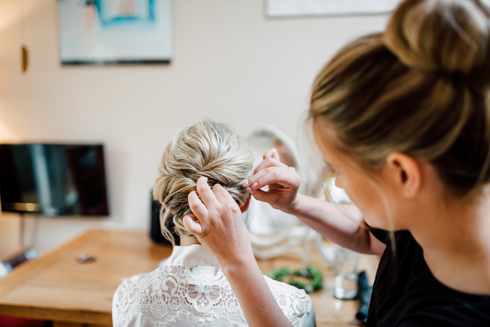 Bride Bridal Hair Style Up Do Barff Country House Wedding Sarah Beth Photo
