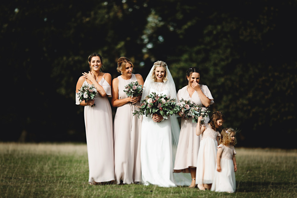 Bridesmaids Bridesmaid Dress Dresses Pale Pink Calke Abbey Wedding HBA Photography