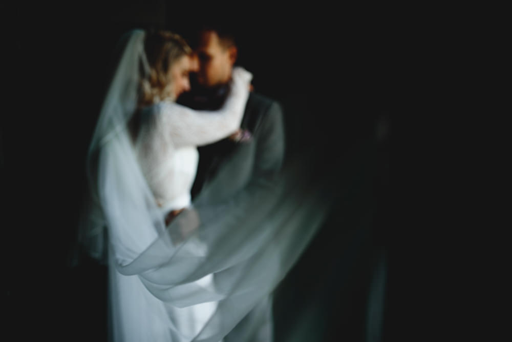 Dress Gown Bride Bridal Rembo Styling Long Sleeves Lace Veil Calke Abbey Wedding HBA Photography