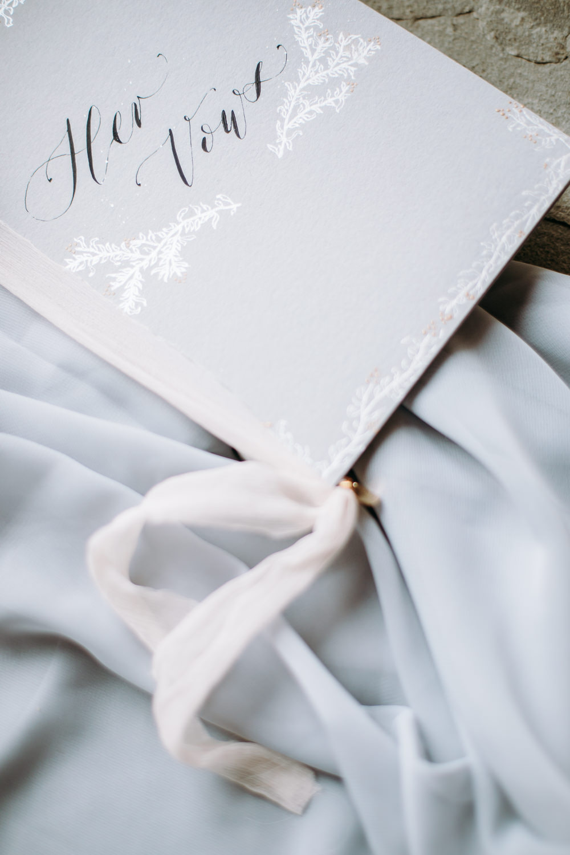Stationery Vow Books Gold Stars Starry Flat Lay Calligraphy Celestial Wedding Ideas Christine Thirdwheeling