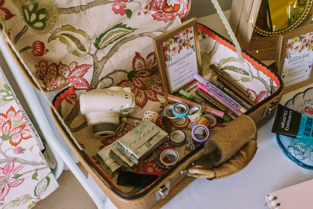 Polaroid Guest Book Crafty Village Hall Wedding Dot and Scolly Photography