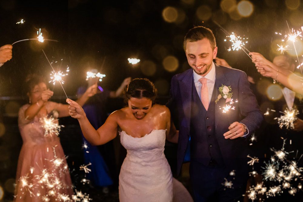 Sparkler Exit Sparklers Send Off Gate Street Barn Wedding Camilla J Hards