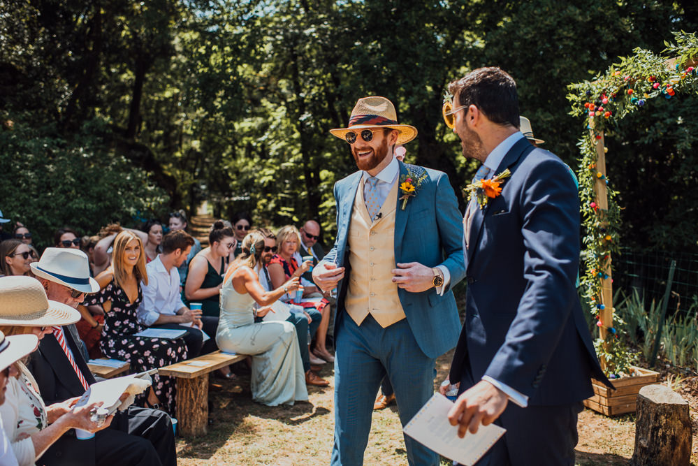 Groom Groomemen Suits Hats Waistcoats Chateau de Lacoste Wedding The Shannons Photography