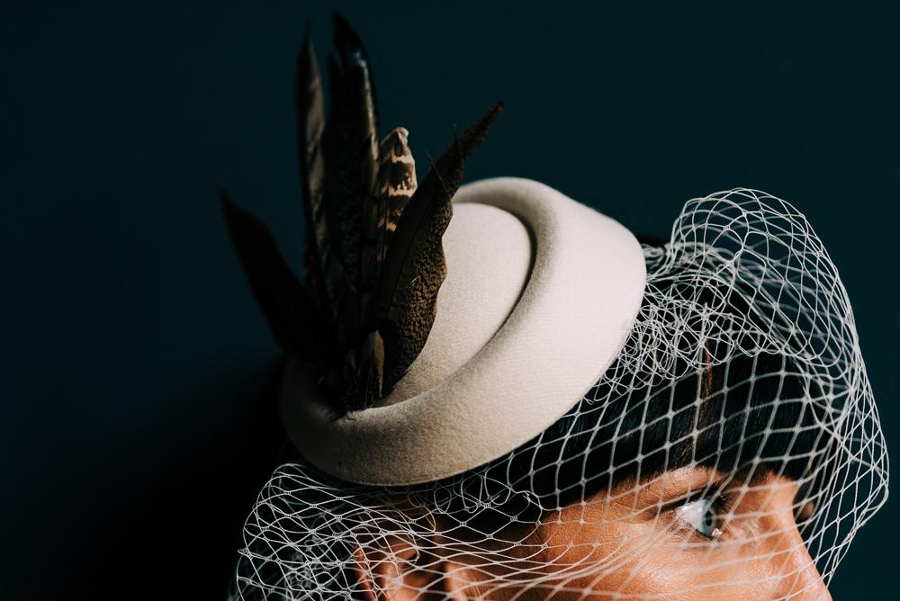 Bride Bridal Accessory Feather Lace Headpiece Glazebrook House Wedding Harriet Bird Photography