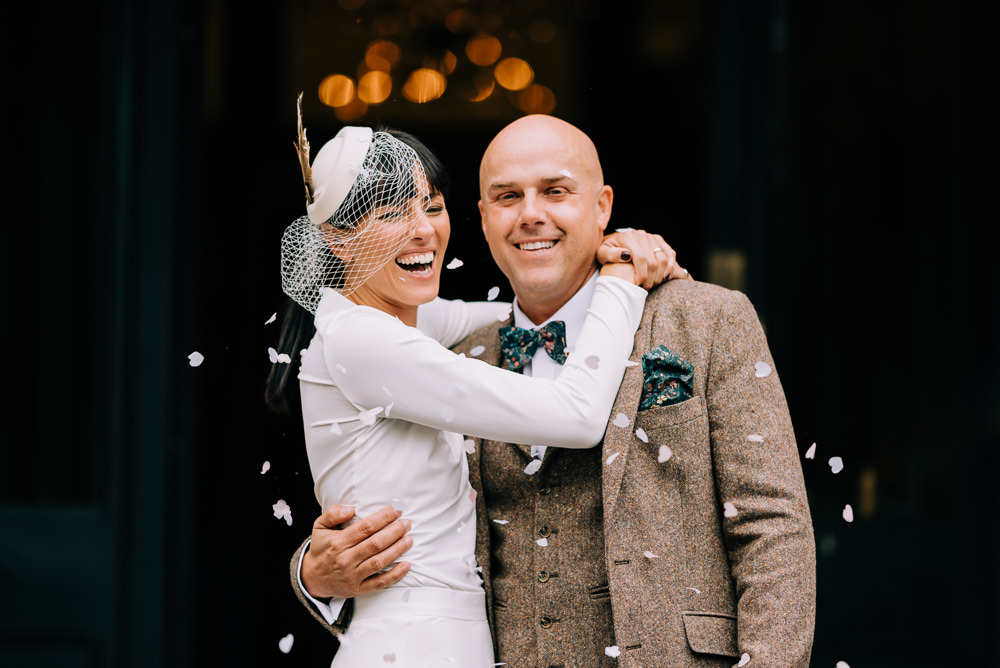 Confetti Glazebrook House Wedding Harriet Bird Photography