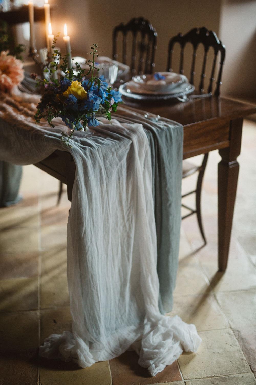 Table Cloth Runner Silk Grey Le Marche Wedding Inspiration Francesca Angrisano