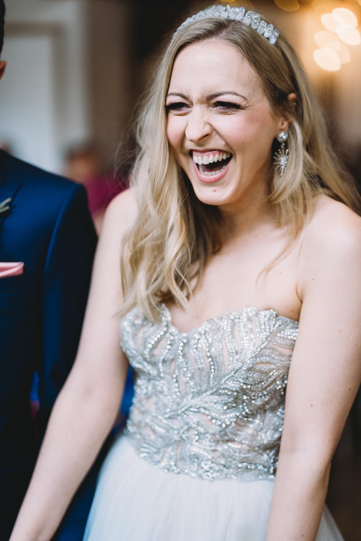 Bride Bridal Hair Make Up Crown Tiara Maidens Barn Wedding Sophie Oldhamstead Photography