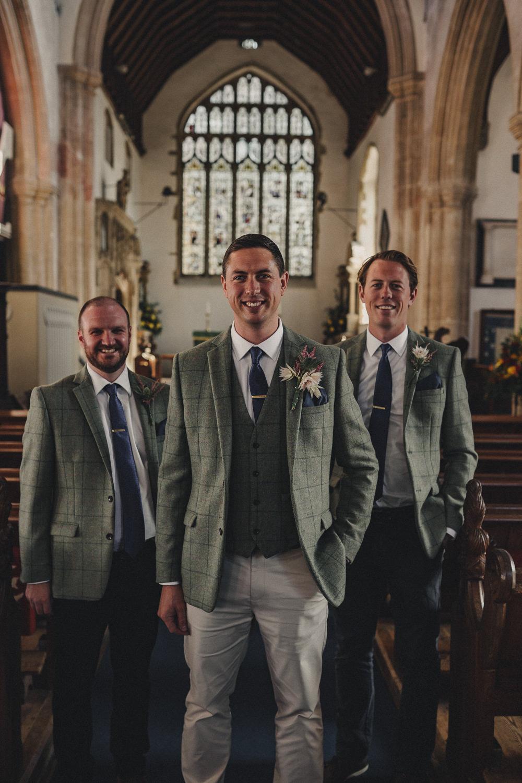 Groom Groomsmen Suit Tweed Jacket Waistcoat Chinos Tie Marquee Wedding Home The Chamberlins