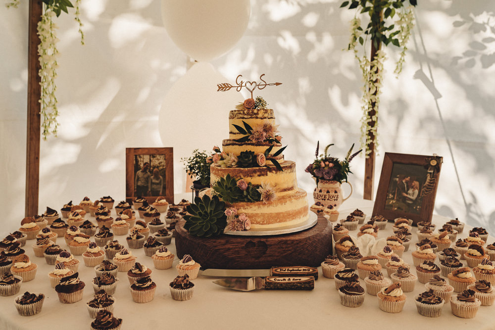 Cake Table Cupcakes Marquee Wedding Home The Chamberlins