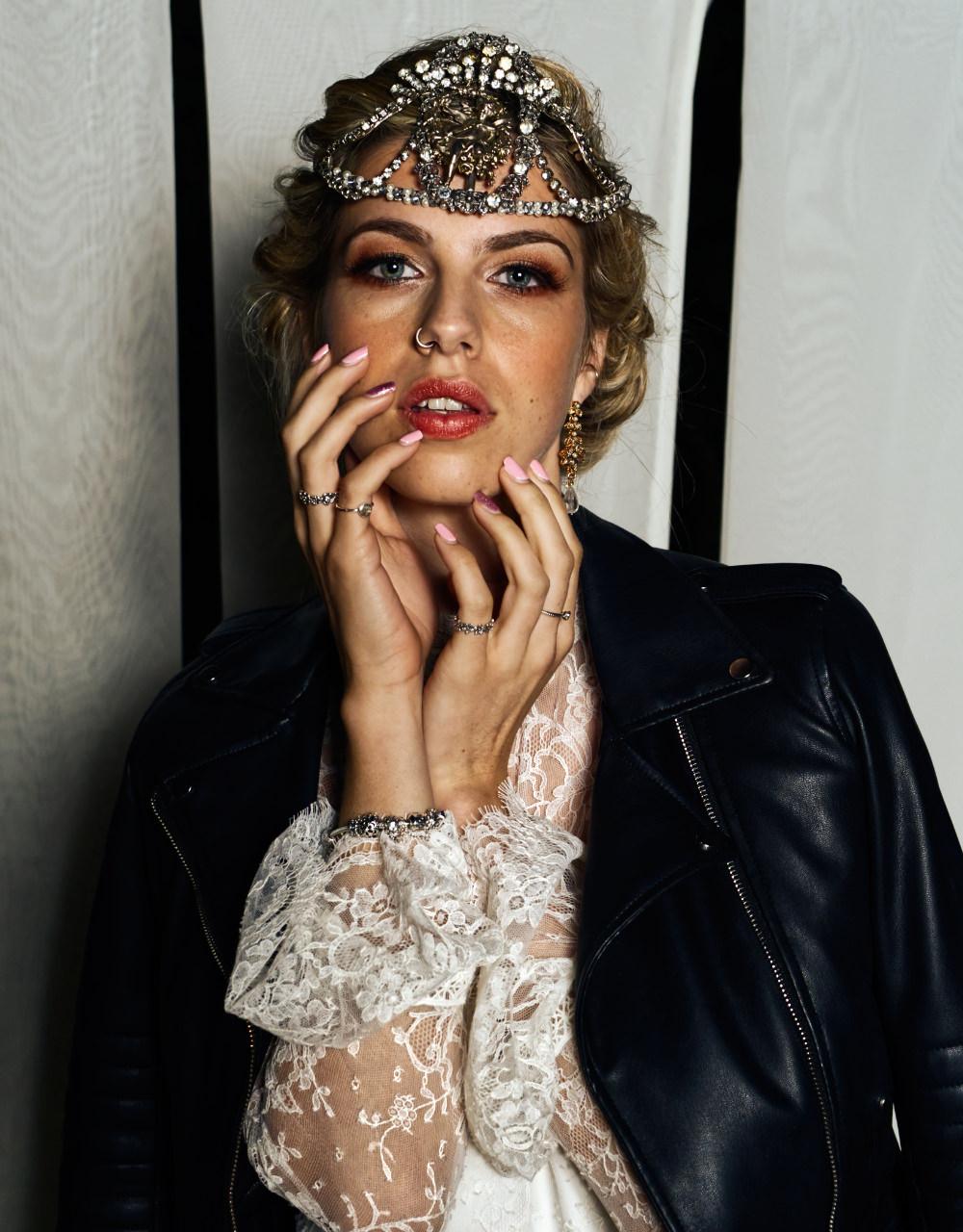 Bride Bridal Leather Jacket Moroccan Wedding Inspiration Luke Batchelor Productions